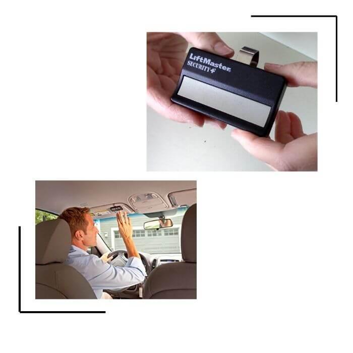 Garage door remote (clicker)